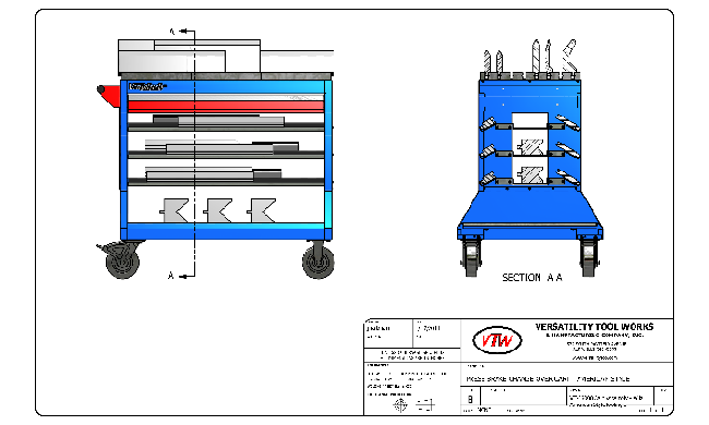 Product Design of Industrial Tool Storage Cart